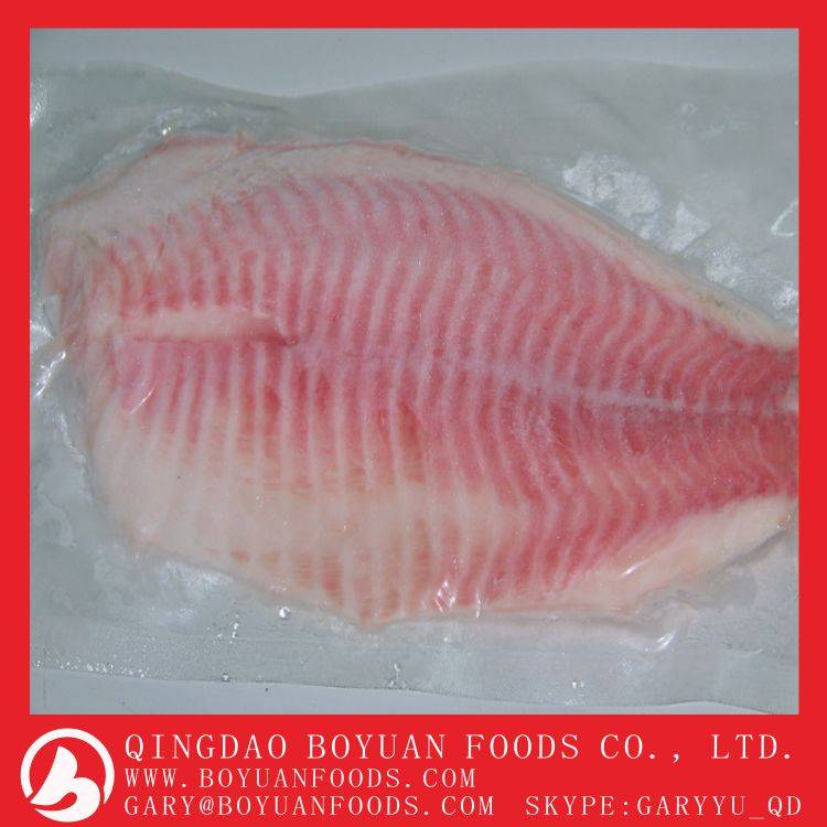 Frozen black tilapia fillet for Africa market from China with low price