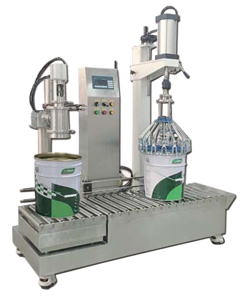 25L Semi-automatic Paint Filling Machine with Plastic Capping Machine