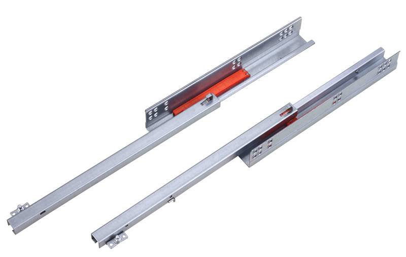 single extension undermount drawer slides with push open witn pin