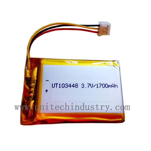 Rechargeable lithium polymer battery 103448 3.7V 1700mAh li-polymer battery