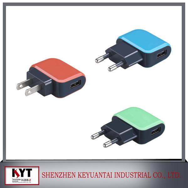 Hot selling 5W 5V1A mobile usb charger with CE FCC ROHS certificate