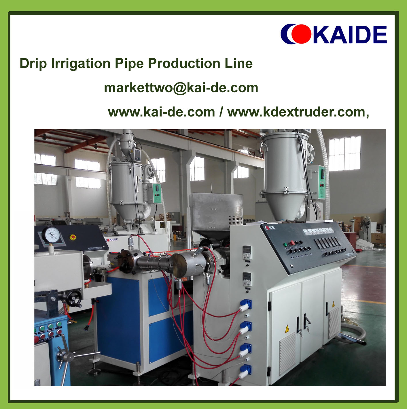 Inlaid cylinder drip irrigation pipe extrusion line