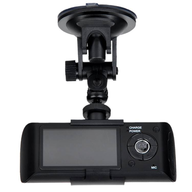 X3000 2.7'' HD Lens GPS Camera Car DVR G-Sensor Two Lens Vehicle BLACK