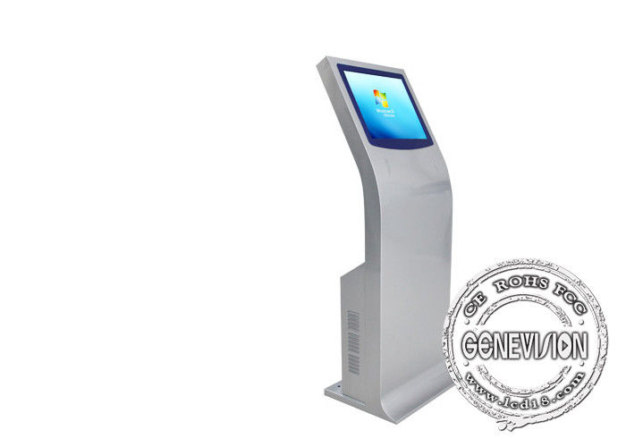21.5 Inch Printer Interactive Touch Screen Digital Signage Kiosk Podium Support Receipt Printing