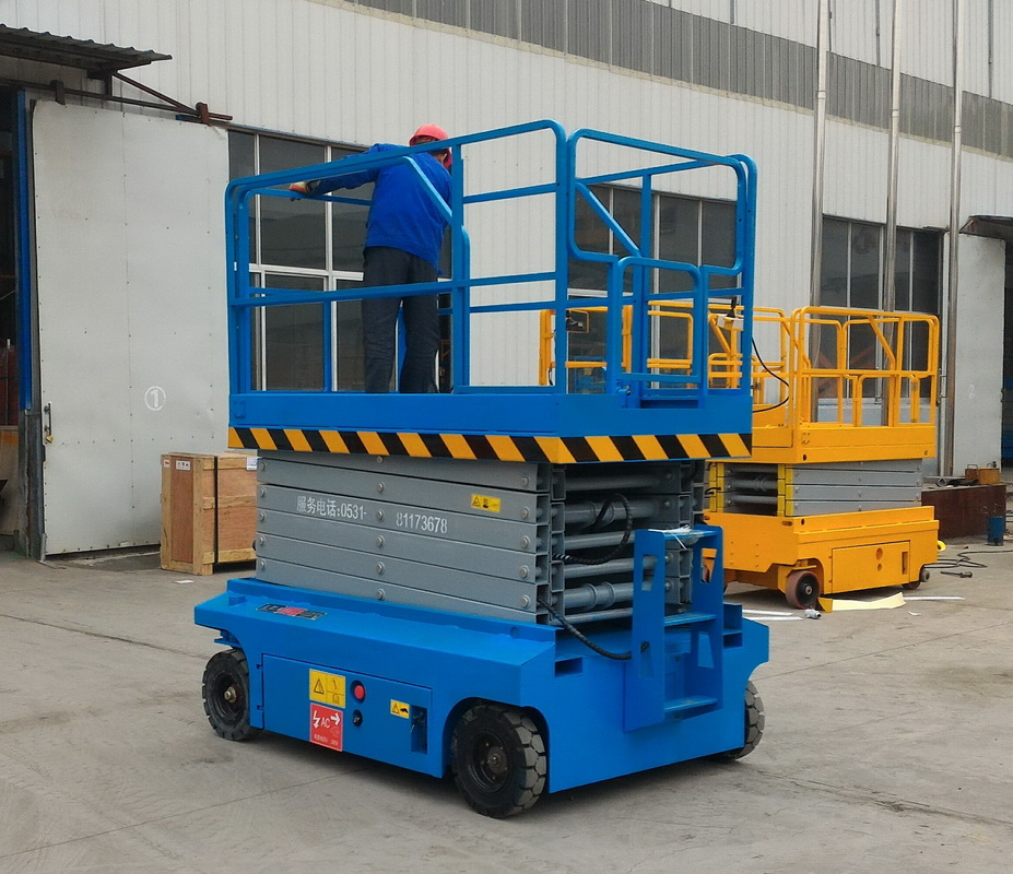 China 10m 230kg hydraulic mobile scissor lift table for sale