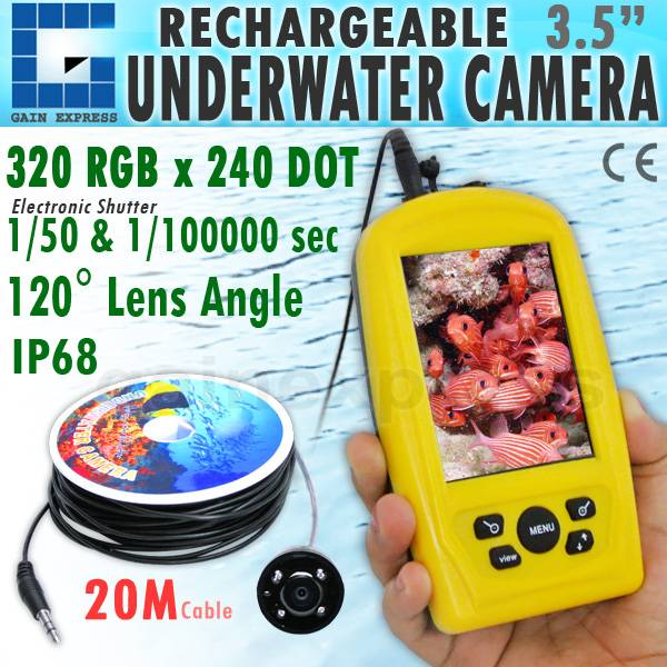 FF-3308-8 Rechargeable Underwater Fish Inspection Camera 3.5 Monitor