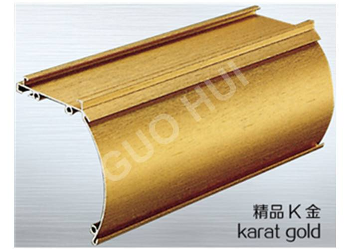 karat gold aluminium profiles for blinds