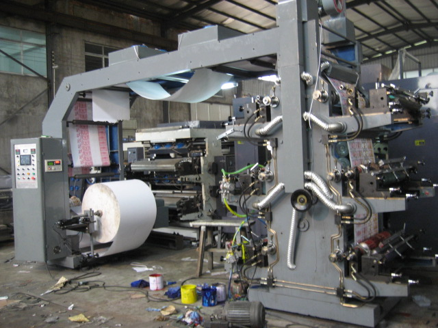 High-Speed Flexo Printer with Doctor Blade and Ceramic Anilox Roller