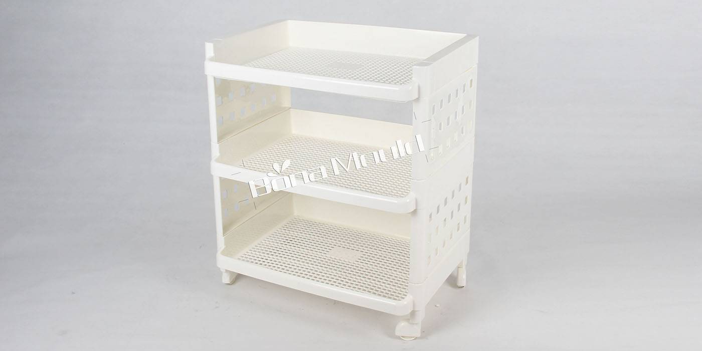 Three level shelf mould