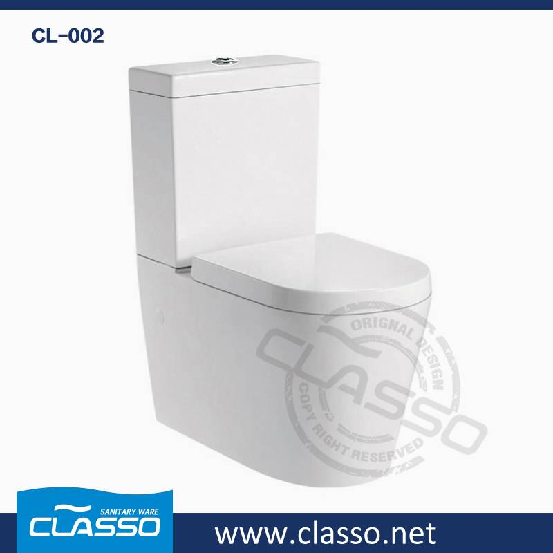 Hot sale washdown toilet new design 4-inch CLASSO two piece closet CL-002