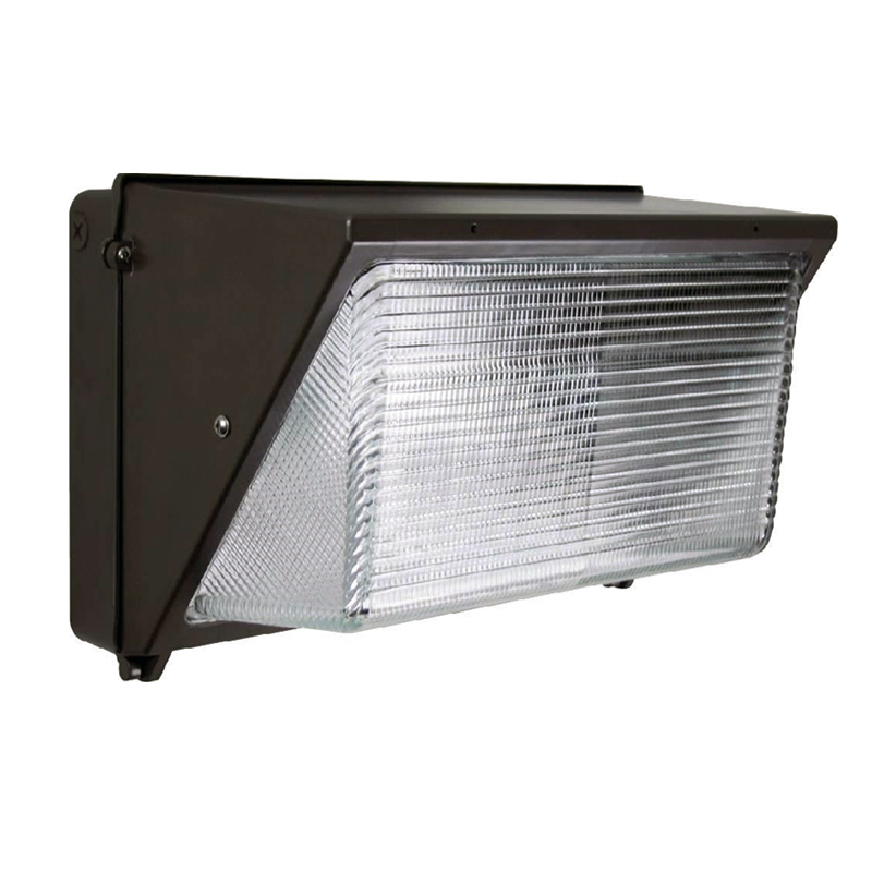 DLC Qualified Semi Cut-off LED Wall Pack Lights-Glass Refractor, 60W, 5 YEARS WARRANTY