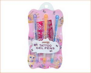 3 Pack Tattoo Gel Pen With Stencil