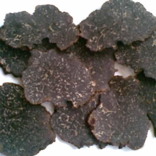 fresh sliced black truffle for sale