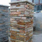 Slate Column and Fireplace,natural slate