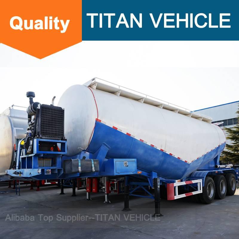 Titan Vehicle tanker truck trailer Steel Material and Semi-Trailer Type bulk cement trailer
