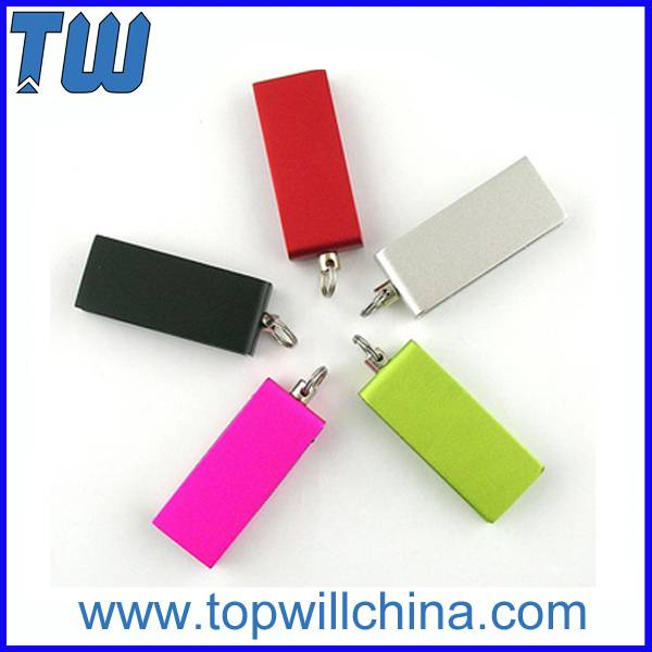 Mini Swivel Usb Flash Disk with Free Key Chain