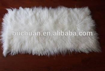 white long hair tibetan lamb fur plate