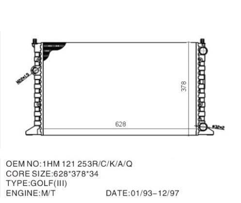Golf radiator: 1HM121253A