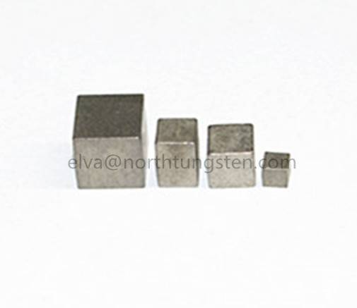 tungsten alloy block cube ballast for boat ship racing car
