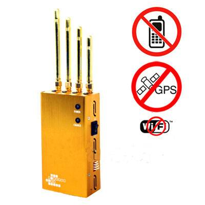 Powerful Golden Portable Cellphone & Wi-Fi & GPS Jammer