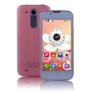 M6 MTK6572 Dual Core Quad Band 2G Dual SIM Smartphone Android 4.2.2 with 512MB 4G 4.5 Inch WVGA Cap