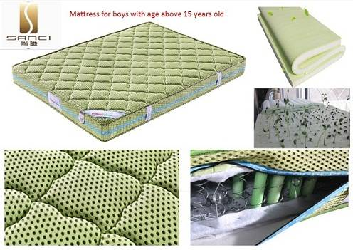Professional 4D Mesh Fabric and Silver-Plated Spring Wellness Mattresses for Boys Aged Above 15