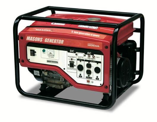 Masons open frame with HONDA GX390,SEB7000Ha portable gasoline genertor