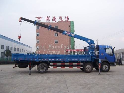 8ton stright arm truck-mounted crane&lorry loading crane
