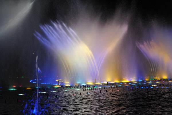 Large scale lake musical spouting fountain and large scale dry fountain project of Nigeria Central P