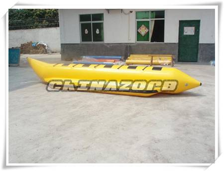 Inflatable banana boat rowing boat good price