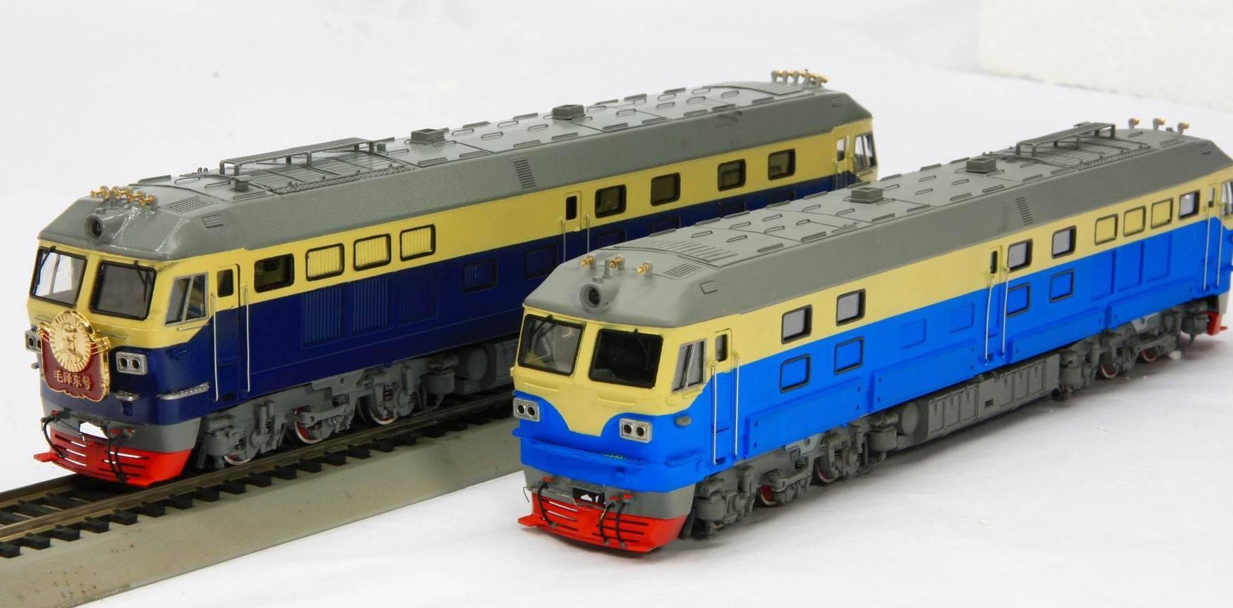 1:87 brass model locomotive ( Chinese DF4D )