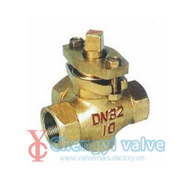 Brass plug valve