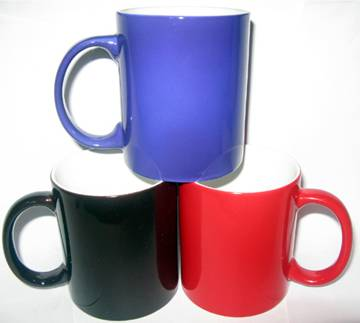 sublimation coated colorful mug