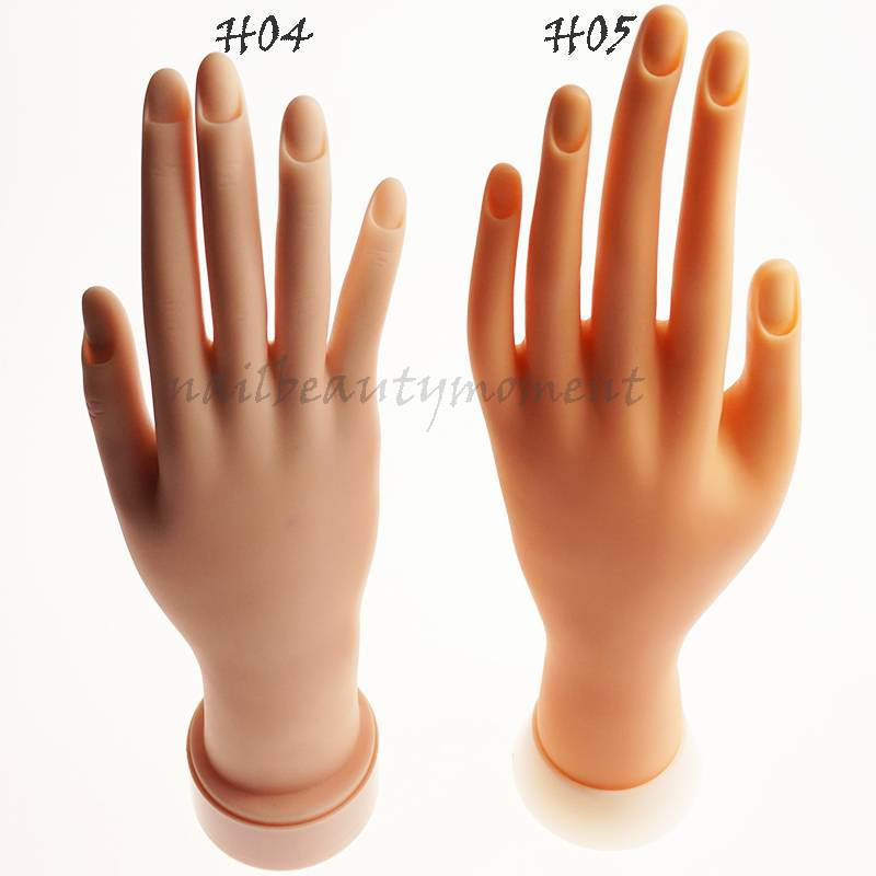 Movable False Hand Nail Art Display Practice Tool (H04)