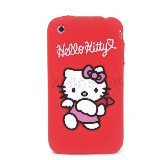 Hello Kitty Protective Silicone Case for iPhone 3G/3GS Black
