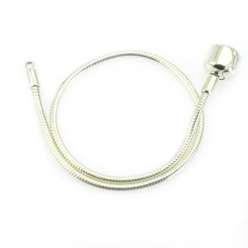 silver snake chain for bracelet