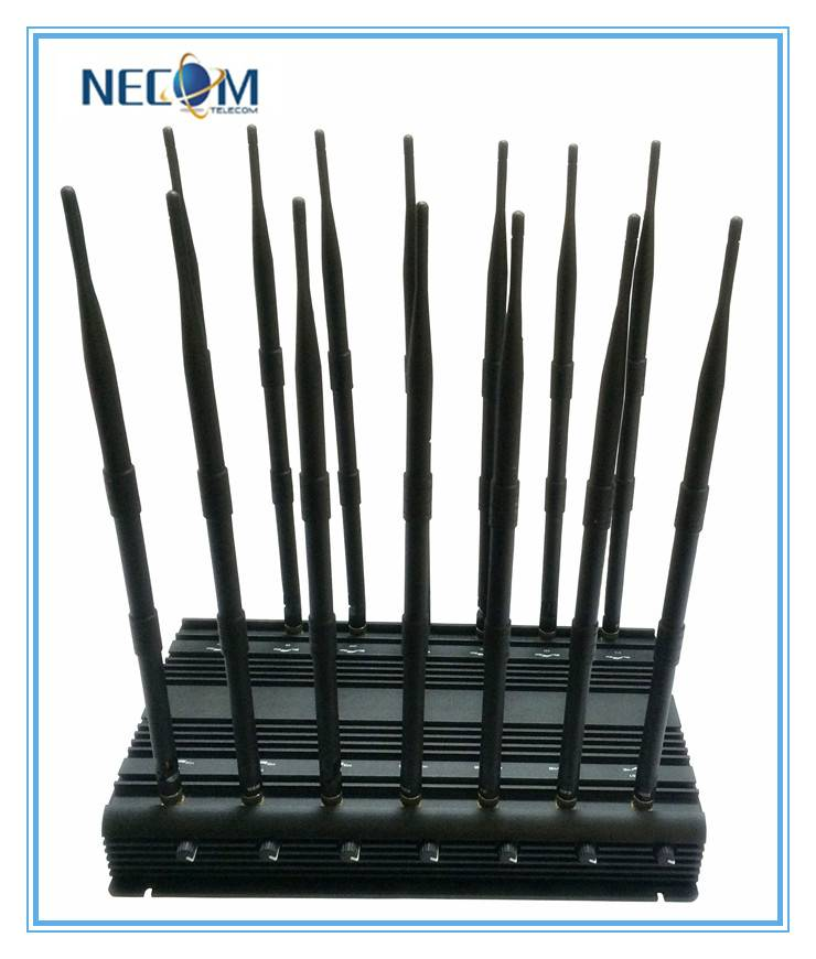 Powerful 14 Antennas Jammer for Mobile Phone GPS WiFi VHF UHF,Full Band Signal Jammer Stationary