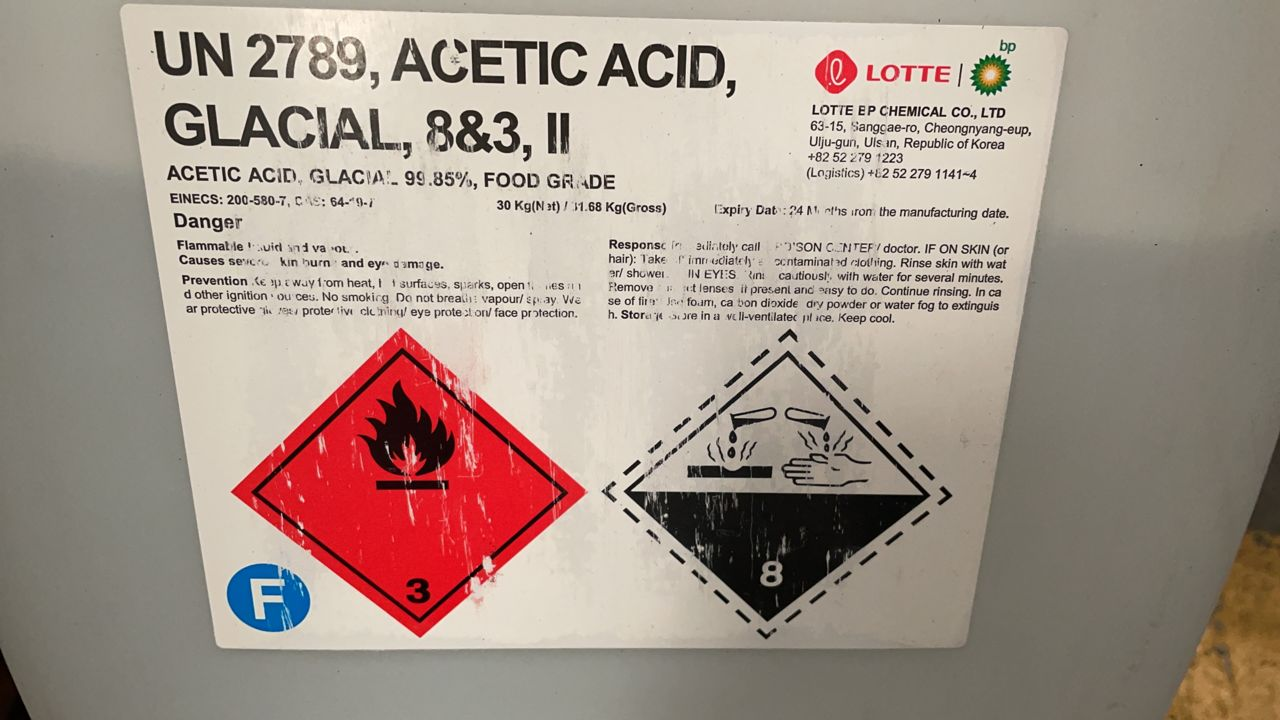 acetic acid from LOTTE south korea