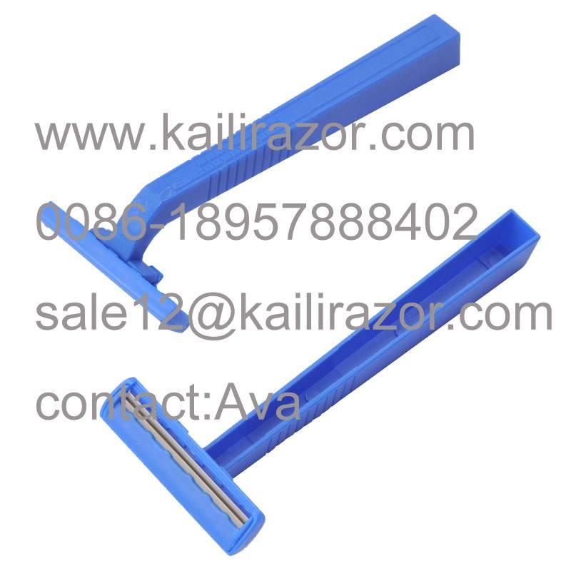 Good quality Twin blade plastic handle disposable razor