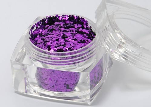 Aluminous Purple Glitter Powder