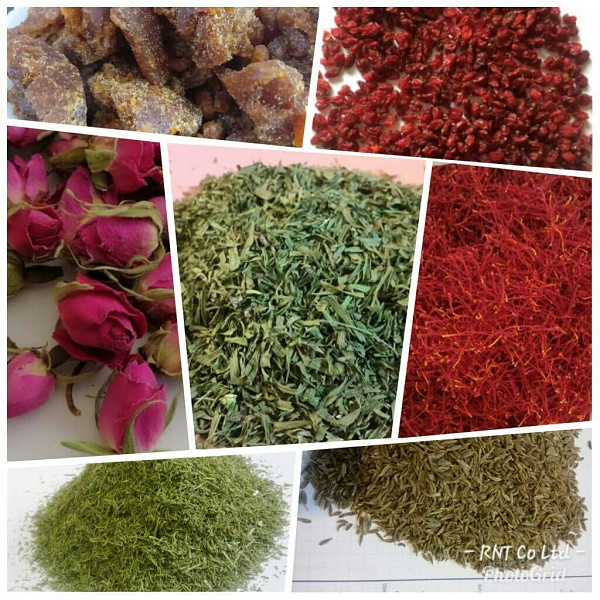 Organic herbs and saffron