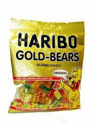 Haribo Gummi Candy, Gold Bears, 80g x 3, Halal, 3 Packs, Altin Ayicik