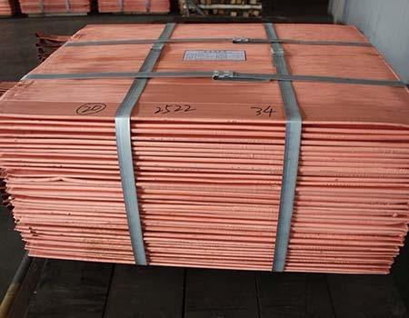 High purity Copper cathodes 99.99%
