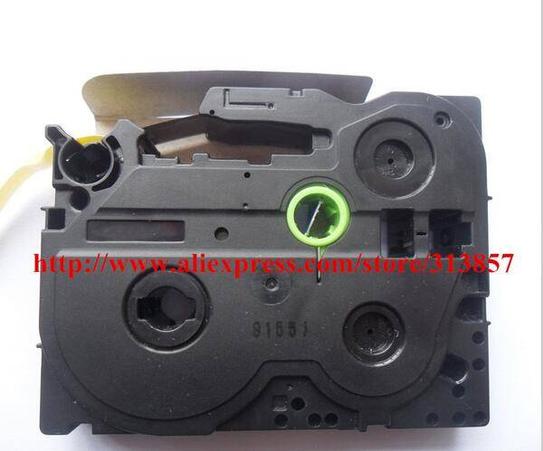 Mixed TZe-621 P Touch Label Tape Black on Yellow 12mm Compatible AZ2-631 For wire marking printer PT