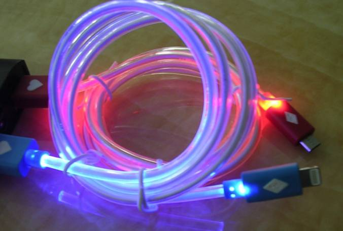 Light rainbow for iPhone 4S / iphone 5/ iphone 5s usb luminescence data line USB mobile phone charge