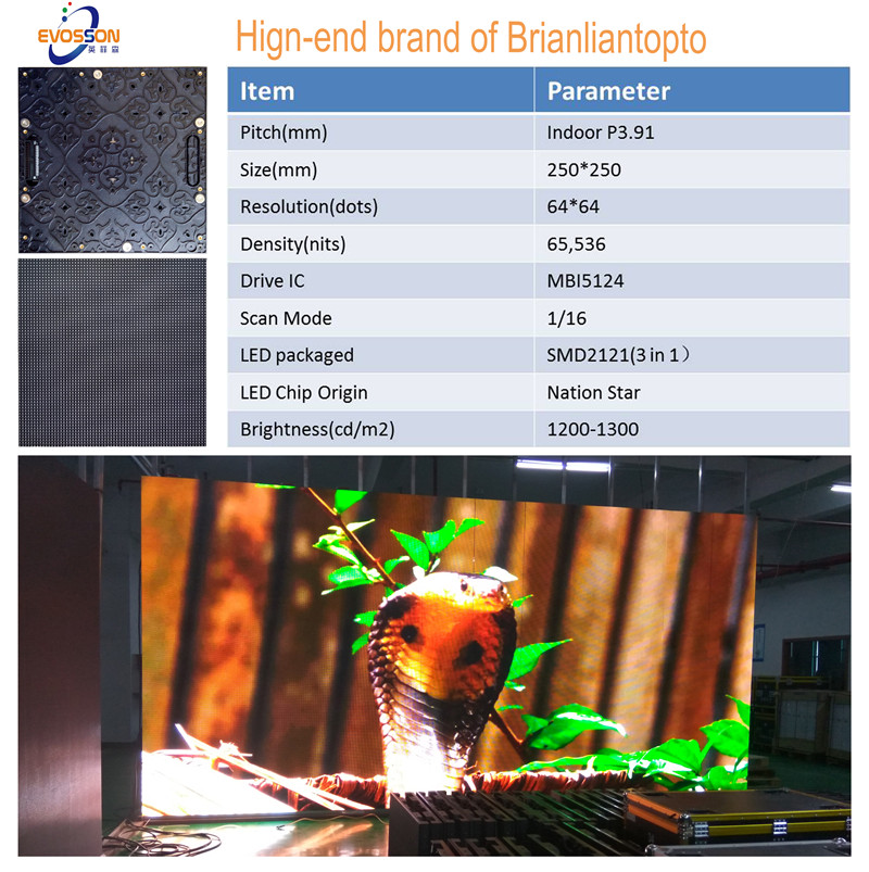 Hot Indoor P3.91Rental LED Video Screen Instock
