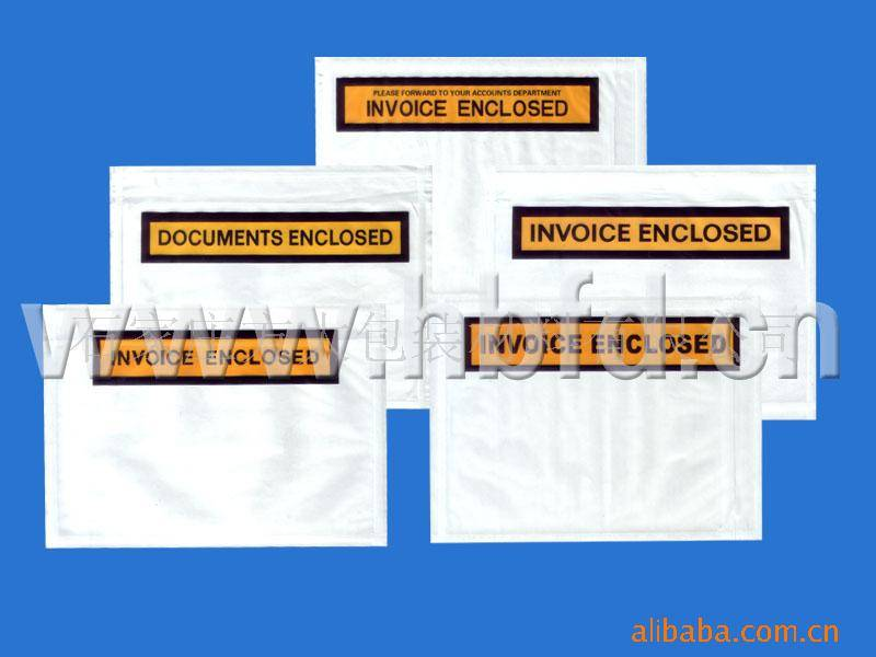 offer packing list envelope, document pouch, courier