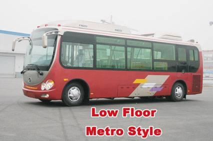 Low Floor, CNG A/C City bus CKZ6752HN3, metro style