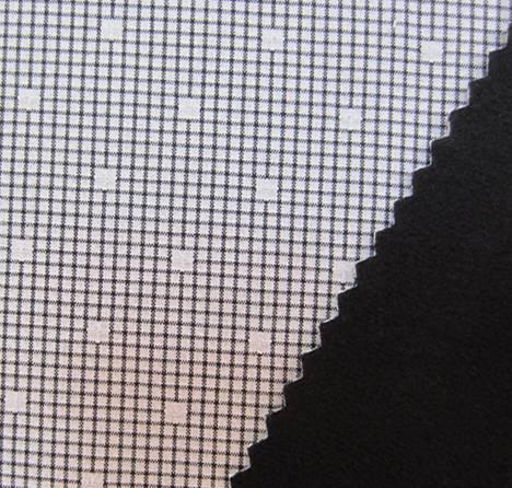 75D cationic jacquard strectch fabric+tpu+super micro velvet