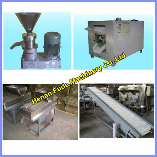 Hot selling Simpled designed peanut butter processing line 100kg/h, peanut butter making machines
